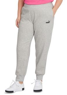 Puma Solid Plus Size Fleece Jogger Pants