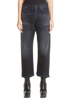 R13 Distressed Boyfriend Jeans (Jake Black)