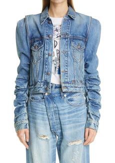 R13 Kelsey Shirred Denim Jacket