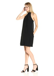 RACHEL Rachel Roy Women's High Neck Dress with Bow