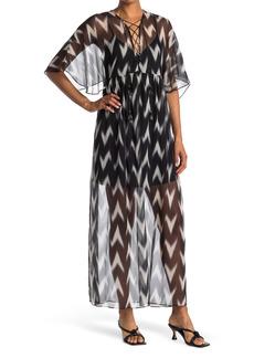 Rachel Zoe Carroll Printed Silk Maxi Dress