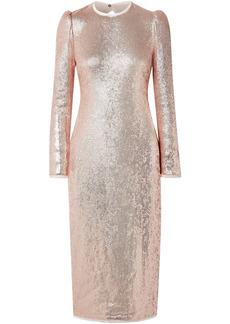 Rachel Zoe Woman Jeane Open-back Sequined Crepe Midi Dress Rose Gold
