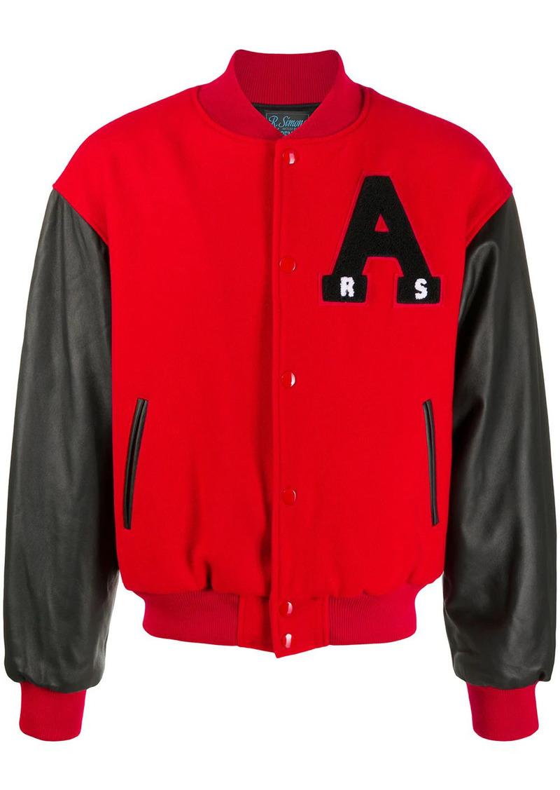 Raf Simons American panelled bomber jacket