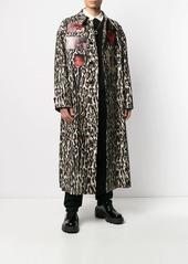 Raf Simons animal-print photo trench coat