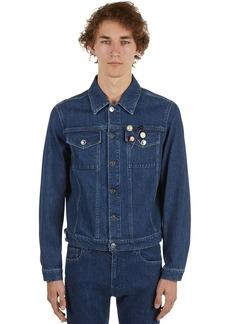 Raf Simons Cotton Denim Jacket W/badges