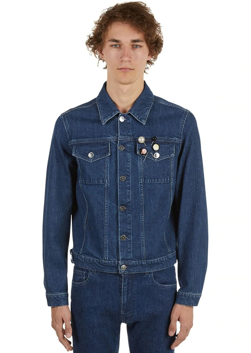 Raf Simons Cotton Denim Jacket W/badges