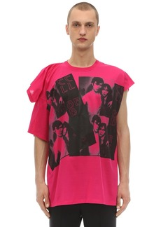 Raf Simons Displaced Sleeves Cotton Jersey T-shirt