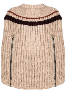 Raf Simons intarsia-knit cape-style jumper