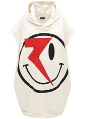 Raf Simons Oversize Embellished Sleeveless Hoodie