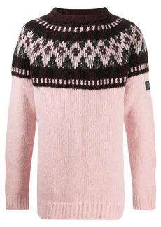 Raf Simons oversize intarsia-knit jumper