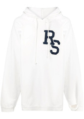 Raf Simons oversized logo patch hoodie
