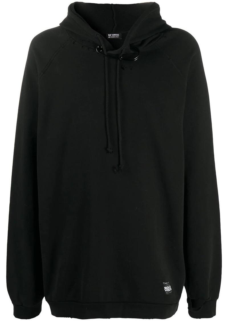 Raf Simons oversized pin-detail hoodie