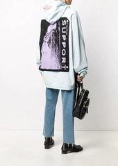 Raf Simons patch detail oversize hoodie