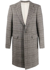 Raf Simons plaid-check single-breasted coat
