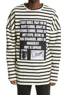 Raf Simons Archive Redux SS '02 Stripe Oversize Wool Sweater