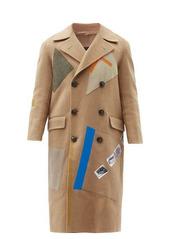 Raf Simons AW14 Sterling Ruby appliqué wool-blend coat