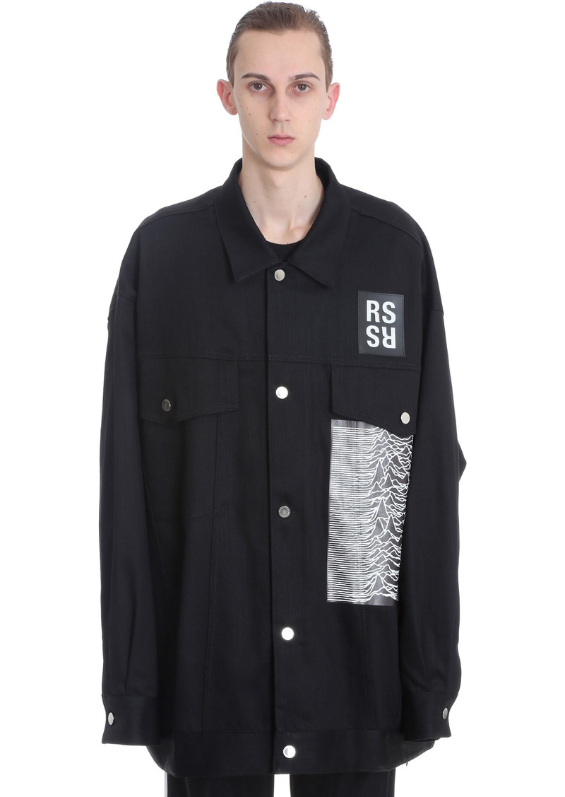 Raf Simons Casual Jacket In Black Denim