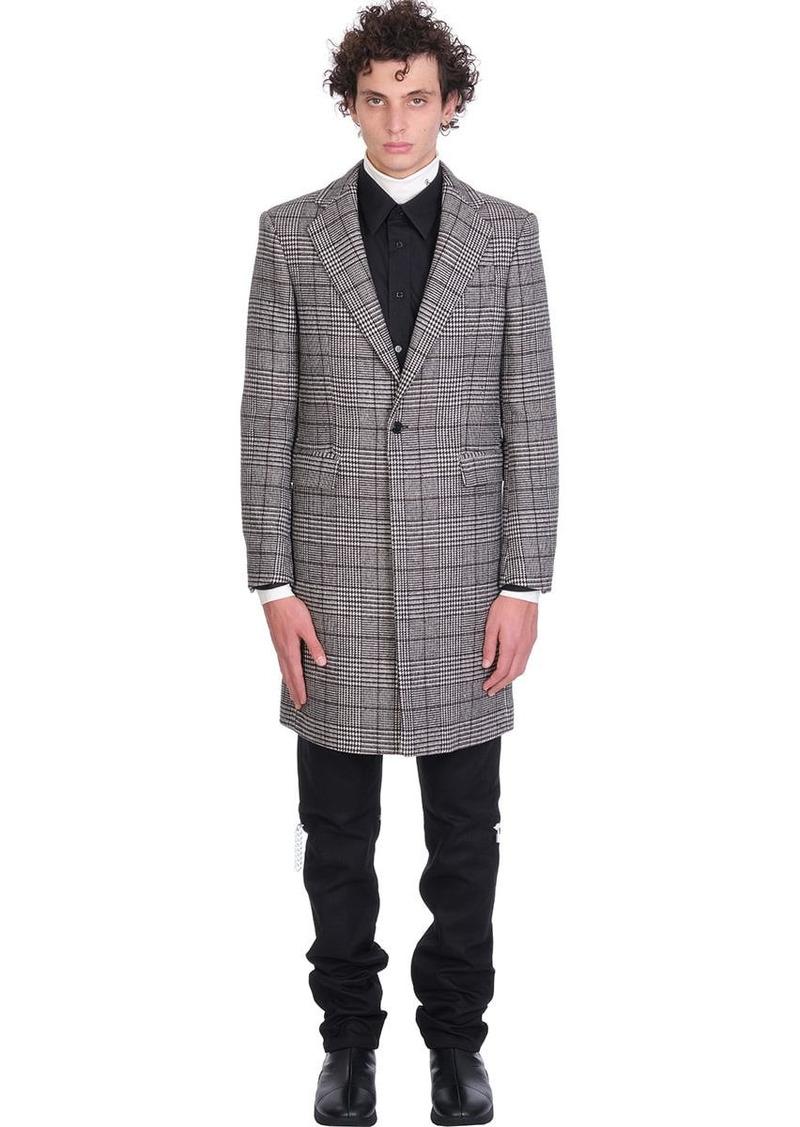 Raf Simons Coat In Grey Wool
