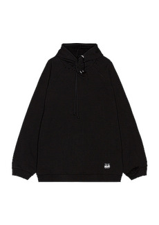 Raf Simons Destroyed Oversized Hoodie With Big Pin
