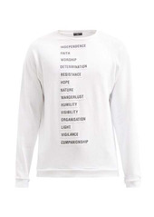 Raf Simons SS02 word-print cotton-jersey sweatshirt