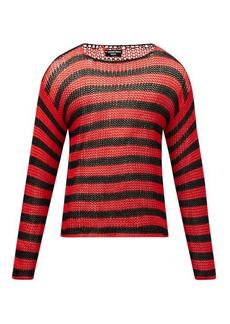Raf Simons SS97 striped open-knit cotton sweater