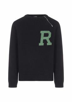 Raf Simons Logo-patch Wool And Alpaca Sweater