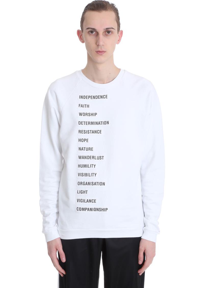 Raf Simons Sweatshirt In White Cotton