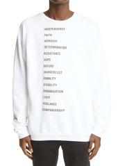 Raf Simons Word Patch Sweatshirt
