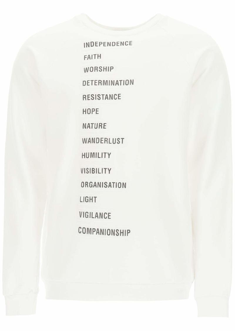 Raf Simons Wording Patches Archive Redux Sweatshirt