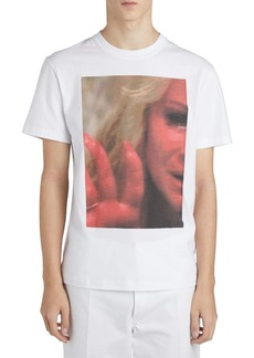 Raf Simons Red Mama Printed Cotton Jersey T-shirt