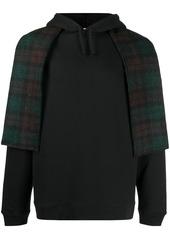Raf Simons scarf detail hoodie