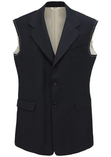 Raf Simons Sleeveless Wool Blazer