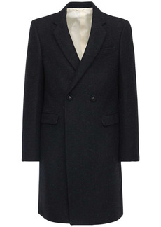 Raf Simons Slim Fit Double Breast Wool Coat