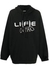 Raf Simons slogan-print long-sleeve hoodie