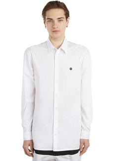 Raf Simons Smiley Embroidered Cotton Poplin Shirt