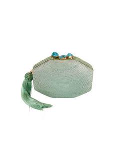 Rafe Sofia Woven Octagon Clutch Bag