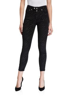 rag & bone Nina High-Rise Zebra Zip-Fly Ankle Skinny Jeans