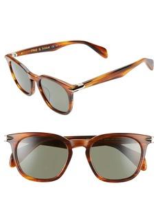 rag & bone 50mm Polarized Round Sunglasses