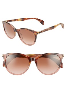 rag & bone 54mm Round Cat Eye Sunglasses