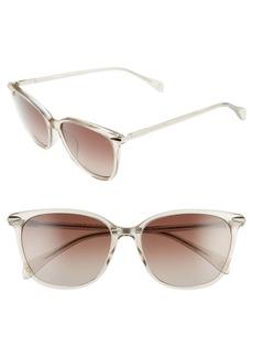 rag & bone 55mm Cat Eye Sunglasses