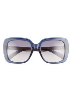 rag & bone 55mm Gradient Square Sunglasses