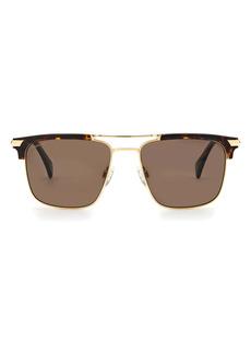 rag & bone 55mm Polarized Rectangular Sunglasses
