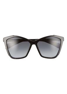 rag & bone 57mm Cat Eye Sunglasses