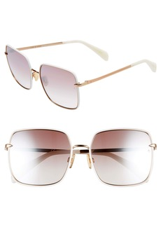 rag & bone 58mm Square Sunglasses