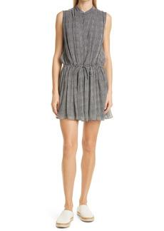 rag & bone Carly Print Tie Waist Sleeveless Silk Blend Dress