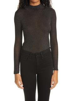 rag & bone Cherie Sparkle Knit Mock Neck Sweater