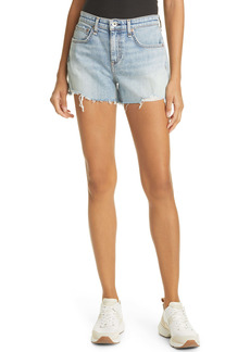 rag & bone Dre High Waist Cutoff Denim Shorts (Stella)