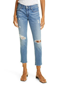 rag & bone Dre Ripped Slim Ankle Boyfriend Jeans (Aviation Way)
