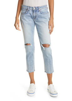 rag & bone Dre Ripped Slim Ankle Boyfriend Jeans (Stella)