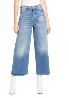 rag & bone Maya High Waist Crop Wide Leg Jeans (Aquarius)